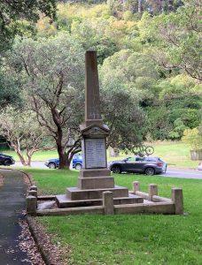 Aro Valley war memorial