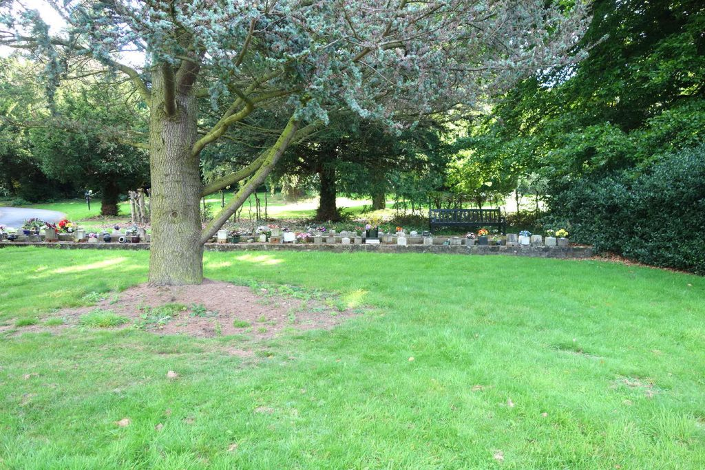 Area of Belper cemetery where Susan Gaffaney was buried